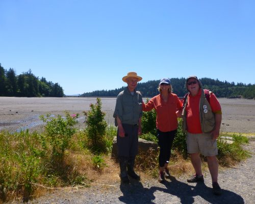 John Bremer, Suzanne Shull, and Chris Brown at Chuckanut Bay.