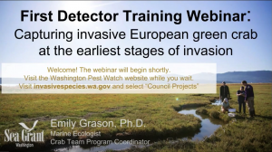 First Detector Training Webinar