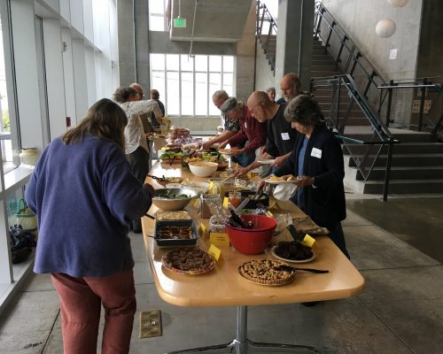The feast we had at Crabstock, our first volunteer appreciation event!