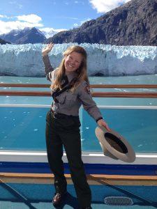 Linhart in front of glacier