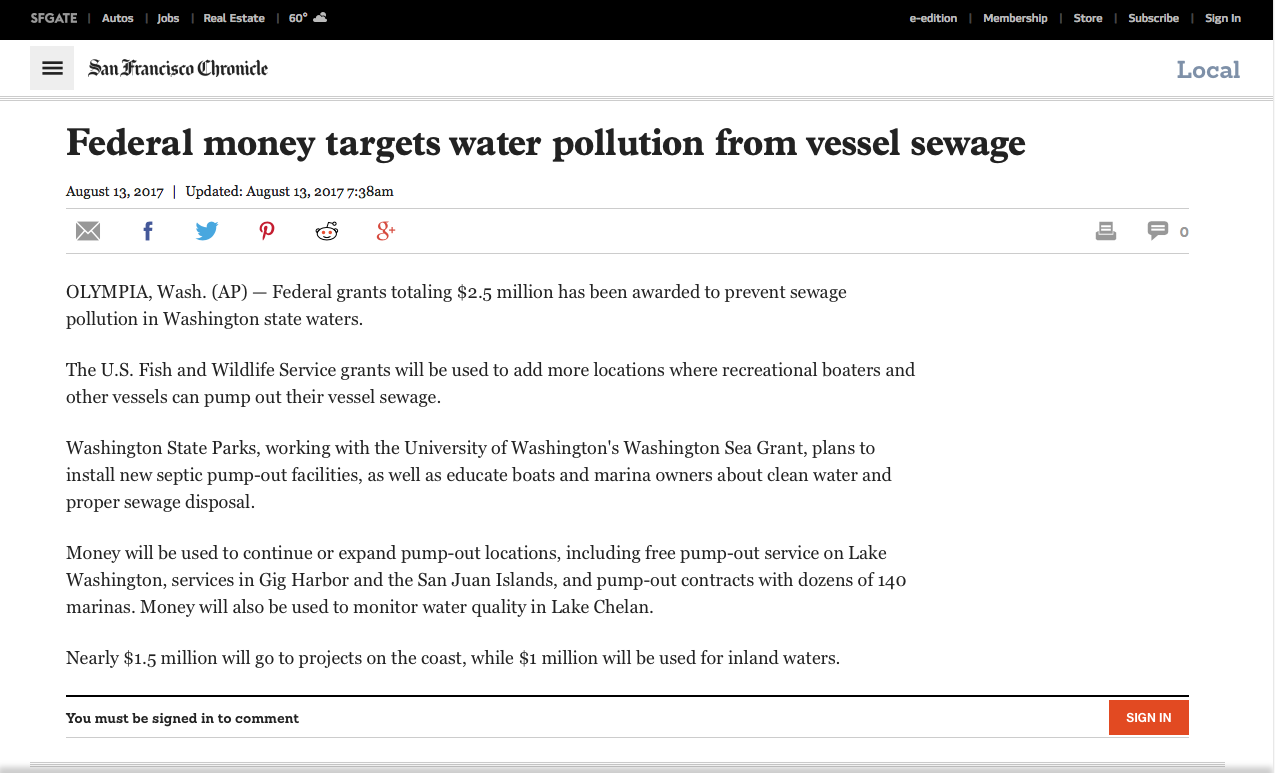 Washington sea grant in the news washington sea grant san francisco chronicle august 13 nvjuhfo Choice Image